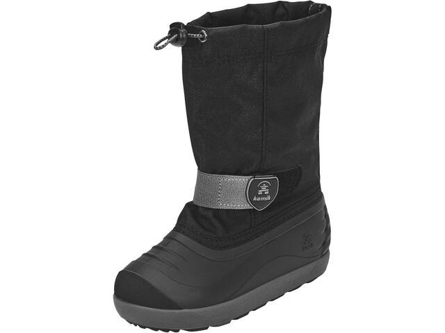 Kamik Jet Chaussures Garçon, black/charcoal-noir/charbon